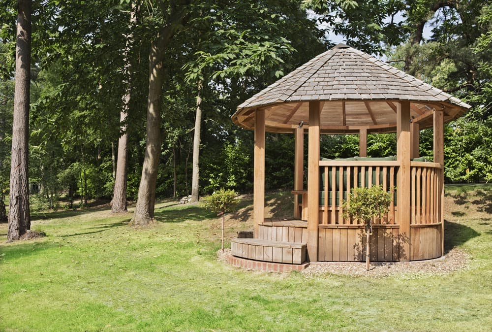 Wolsey luxury wooden gazebo large garden building for Large wooden gazebos