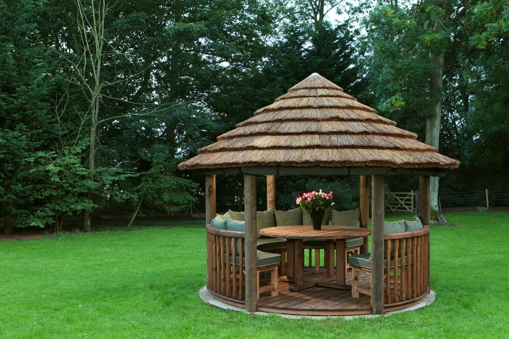 edward luxury wooden gazebo outdoor garden pavilion. Black Bedroom Furniture Sets. Home Design Ideas