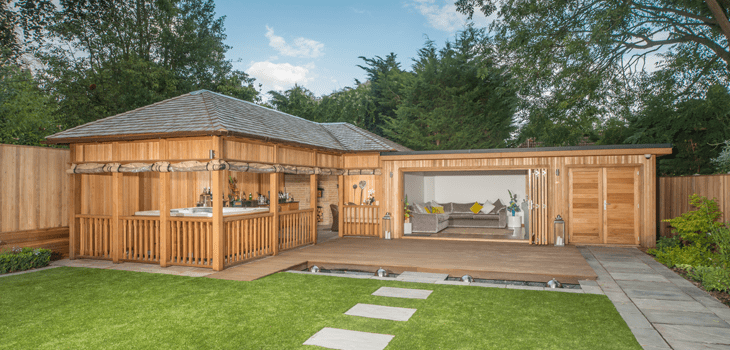 Bespoke garden buildings summer houses crown pavilions for Large garden buildings