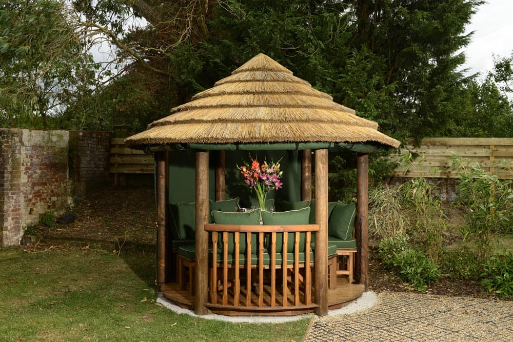 Elizabeth luxury wooden garden gazebo bespoke outdoor for Luxury garden sheds