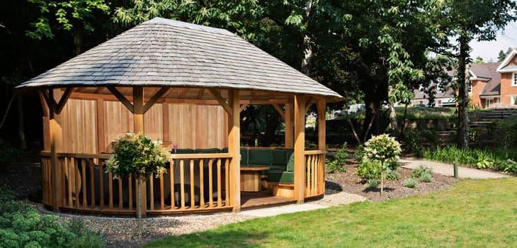 Hampton Luxury Wooden Gazebos Crown Pavilions