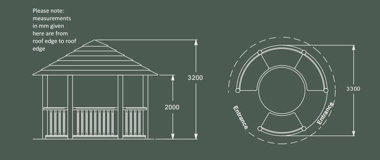 Edward Luxury Wooden Gazebo Product Specification