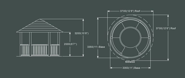 Crown Edward Luxury Gazebo Product Specification