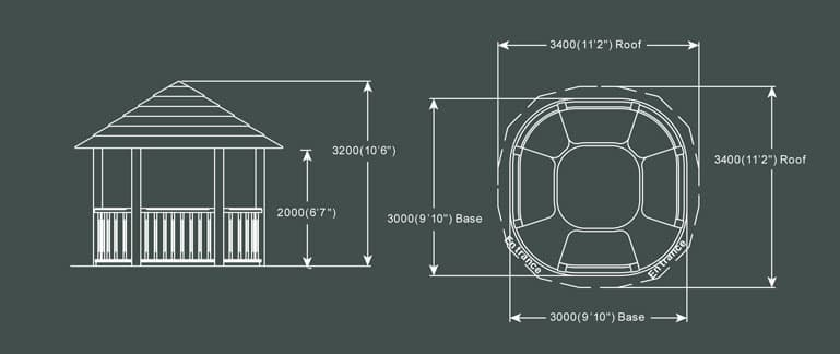 Crown Wolsey Luxury Gazebo Product Specification