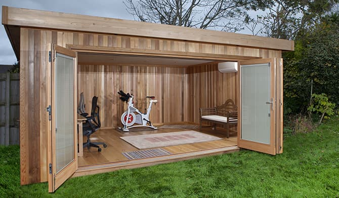 Garden office outdoor home office garden studio for Cheap garden office buildings