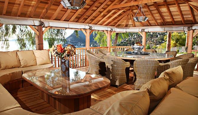 Stylish home design ideas luxury gazebos for Luxury garden rooms