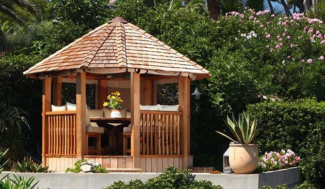 Wolsey luxury wooden gazebo large garden building for Large wooden gazebos