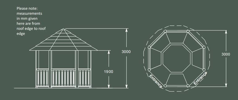 Guinevere Luxury Wooden Gazebo Product Specification