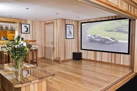 Custom Designed Cedar Garden Cinema Rooms
