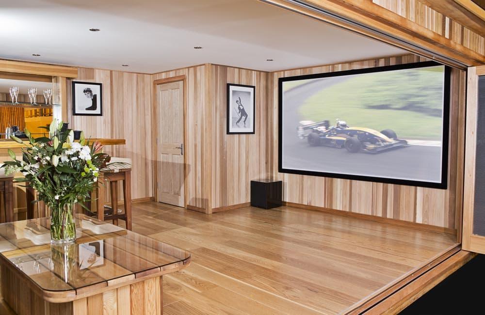 Custom Designed Cedar Garden Cinema Rooms