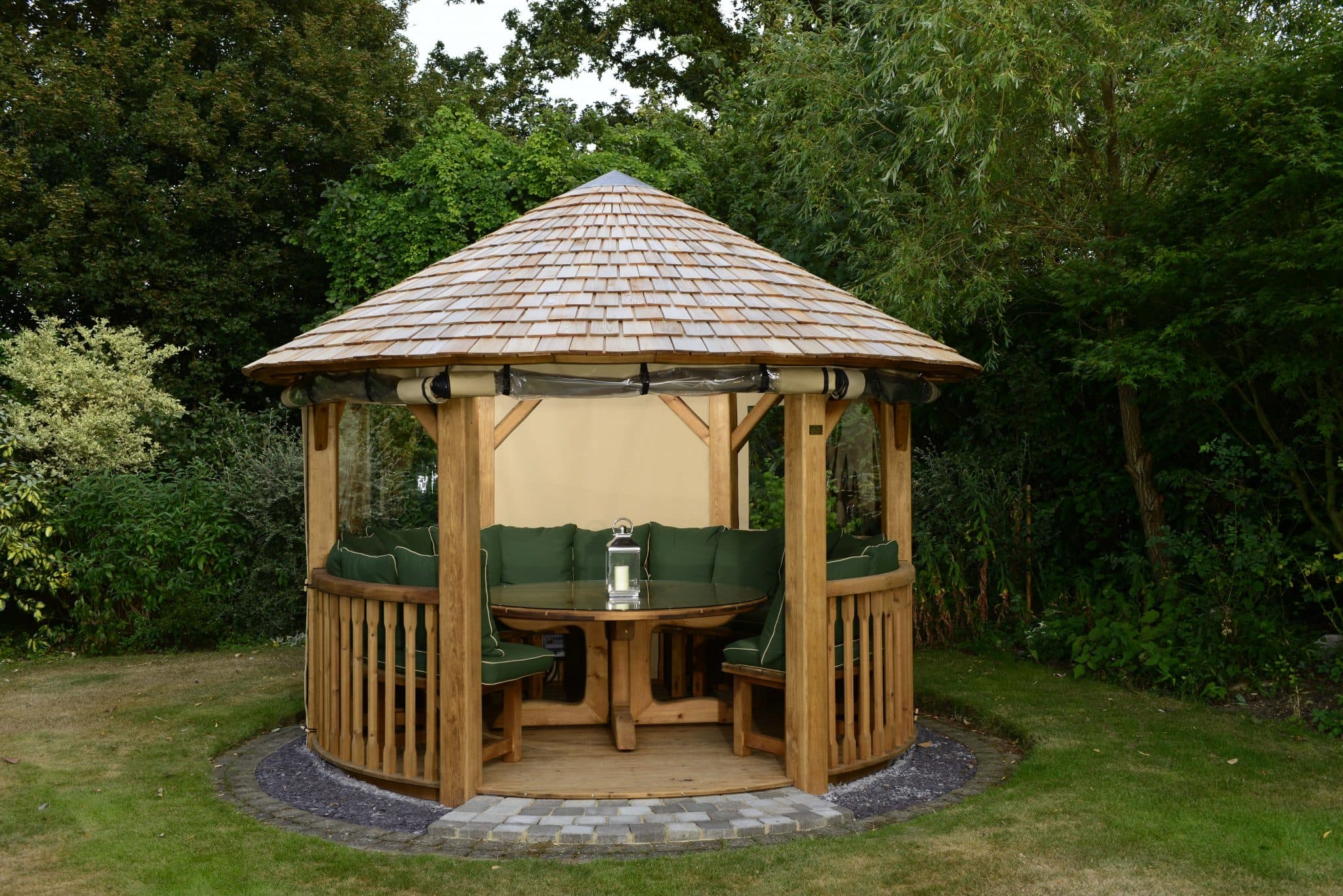 One of the newest additions to the Crown Pavilions garden building  collection will also be available to view and offers a luxurious space to  any garden.
