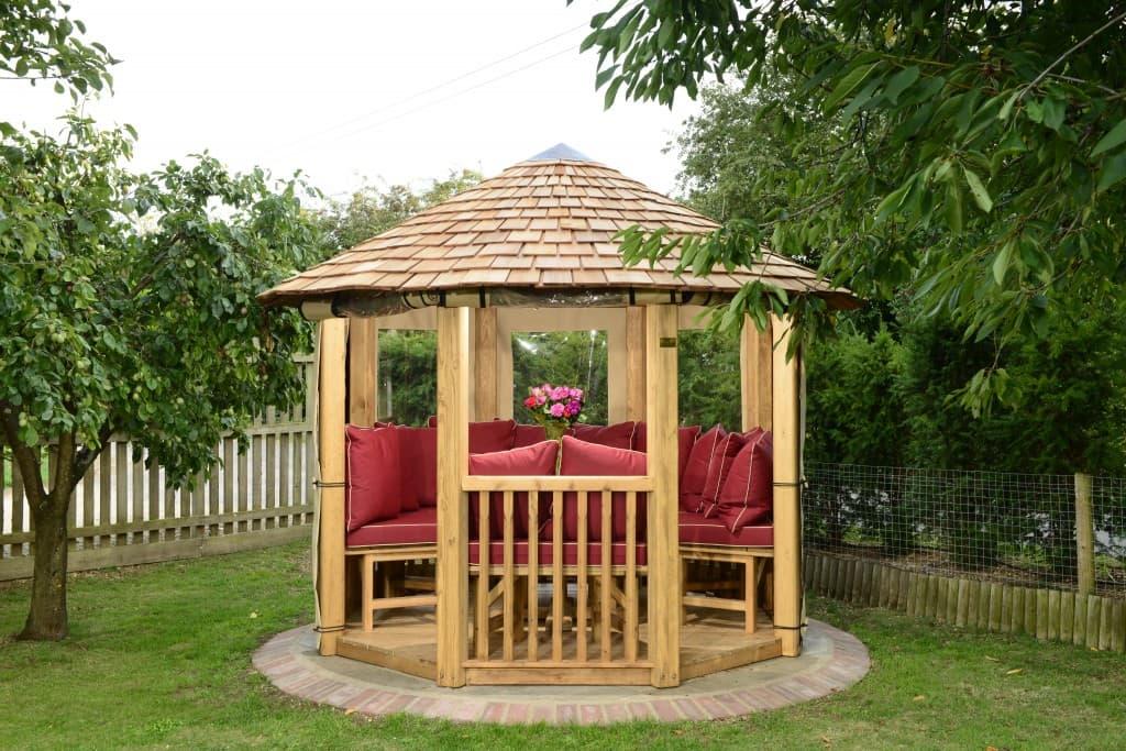 Tudor luxury wooden gazebo bespoke garden buildings for Luxury garden buildings