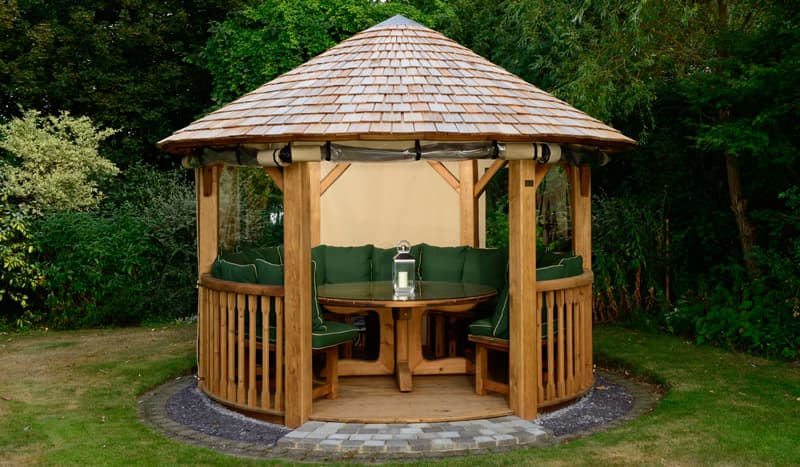 Edward Luxury Wooden Gazebo Outdoor Garden Pavilion
