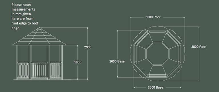 Tudor Luxury Wooden Gazebo Product Specification