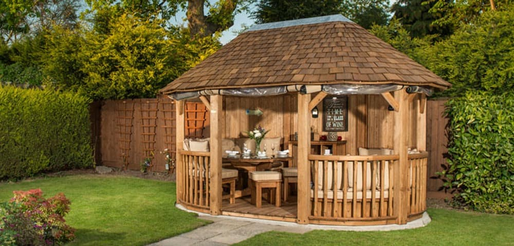 ascot luxury wooden gazebo bespoke garden pavilion. Black Bedroom Furniture Sets. Home Design Ideas