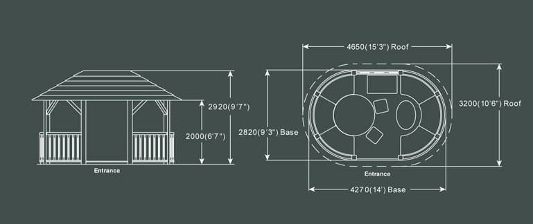 The Ascot Luxury Gazebo Product Specification