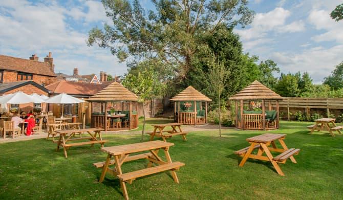 wooden garden gazebos