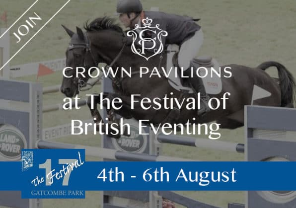Event information with picture of horse jumping
