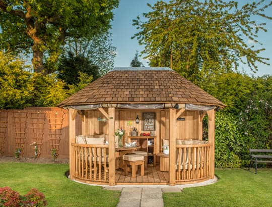 Bespoke garden buildings for summer with crown pavilions for Bespoke garden rooms