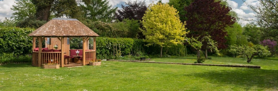 How to care for a wooden garden gazebo