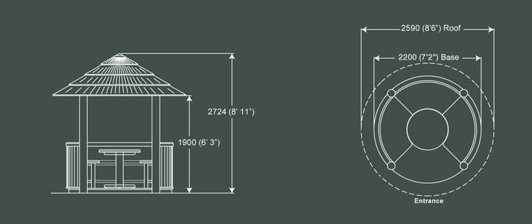 Crown Rose Luxury Gazebo Product Specification