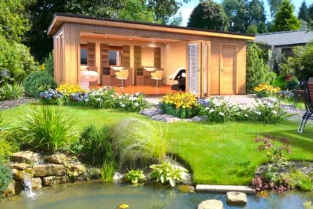 New garden room collection crown pavilions for Two room garden shed