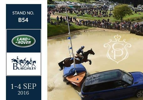 Crown Pavilions are attending the Burghley Horse Trials
