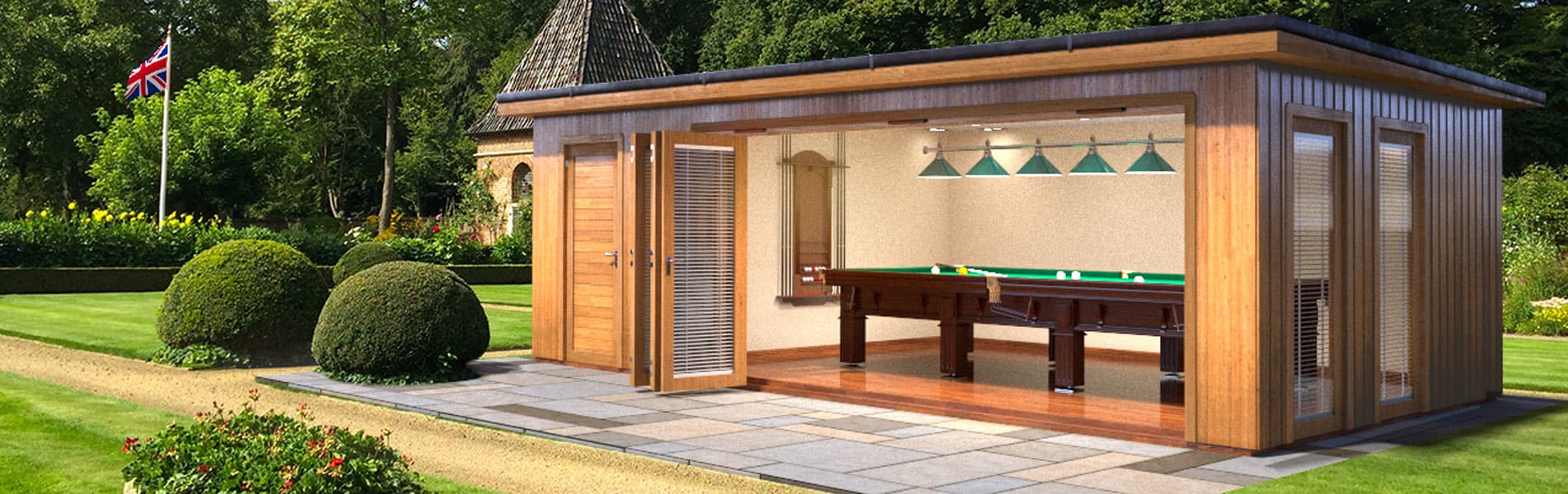 Luxury garden rooms wooden gazebos in berkshire crown for Luxury garden rooms