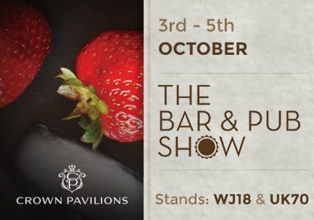 Crown Pavilions proud sponsors of The Bar and Pub Show