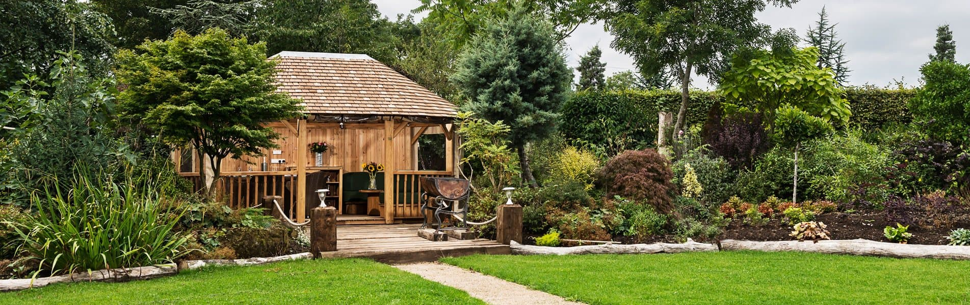 Luxury Wooden Hampton Pavilion