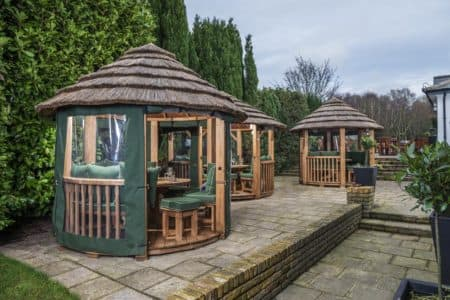 Outdoor Garden Pavilions at The Blue Ball pub, Kent