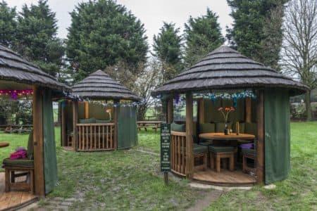 Garden Gazebos at The Little Brown Jug, Kent
