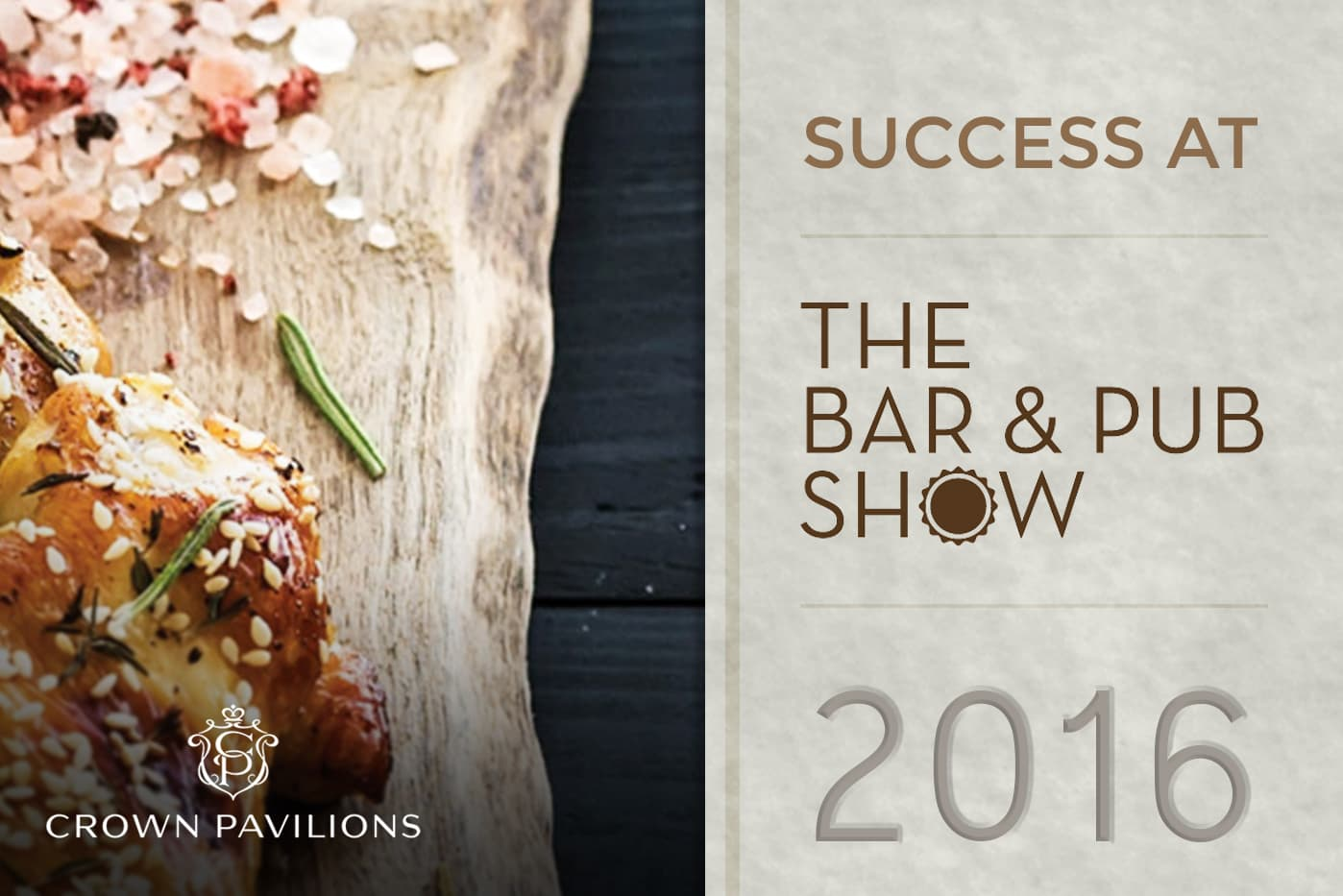Crown Pavilions Success at The Bar and Pub Show 2016