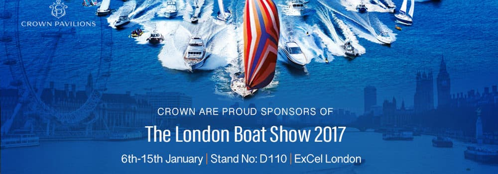 Crown Pavilions are proud sponsors of the London Boat Show
