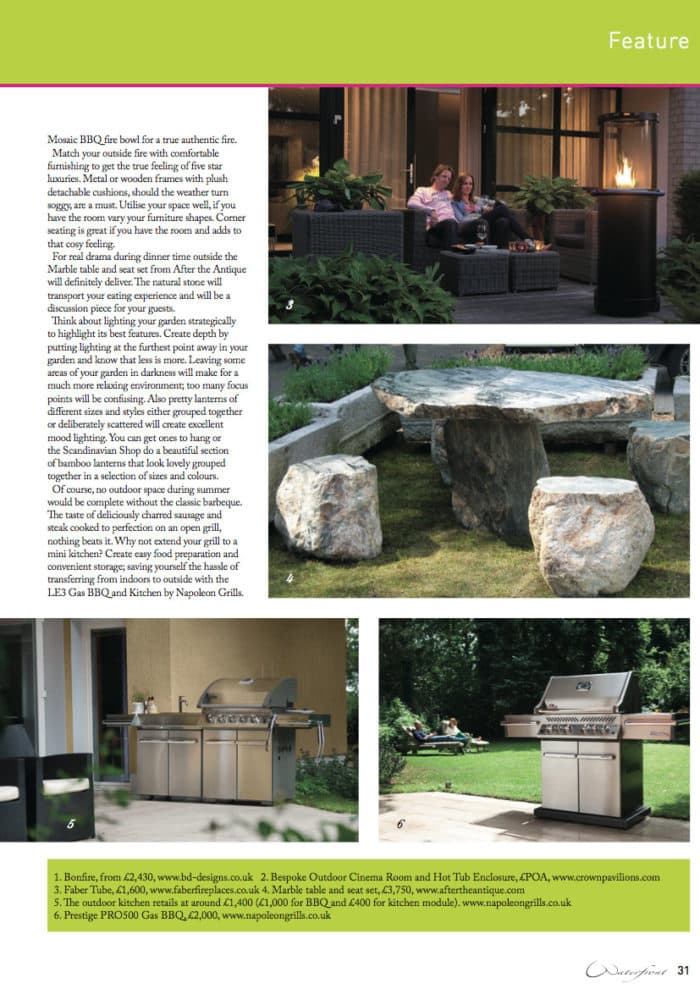 Crown Pavilions featured in Waterfront Magazine