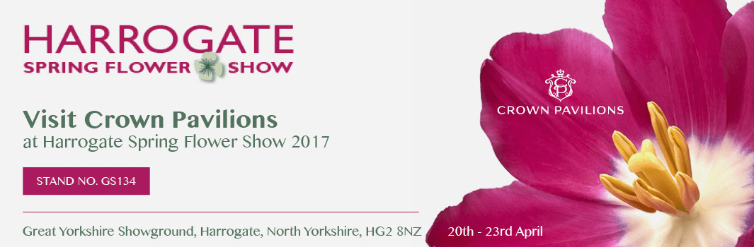 Crown Pavilions exhibiting at the Harrogate Spring Show