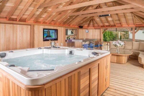 Bespoke Gazebo with Hot Tub And Bar