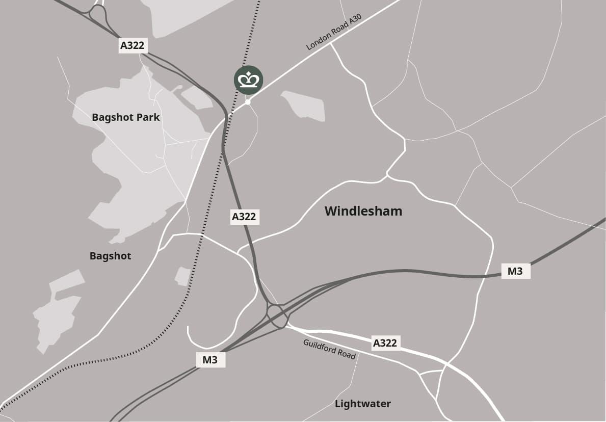 Map to Longacres Garden Centre