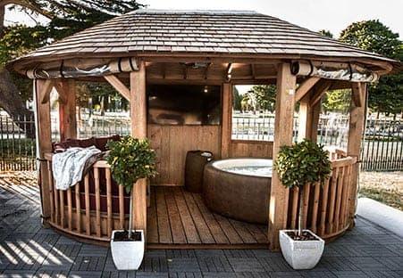 Crown Ascot with Hot Tub Luxury Gazebo