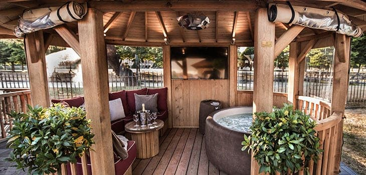 Crown Ascot with Hot Tub Luxury Gazebo Additional Extras