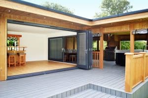 Garden Room studio and slide doors