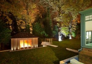 night time garden room