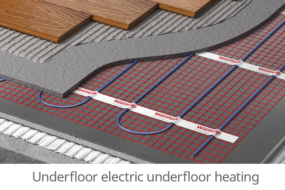 Underfloor electric heating