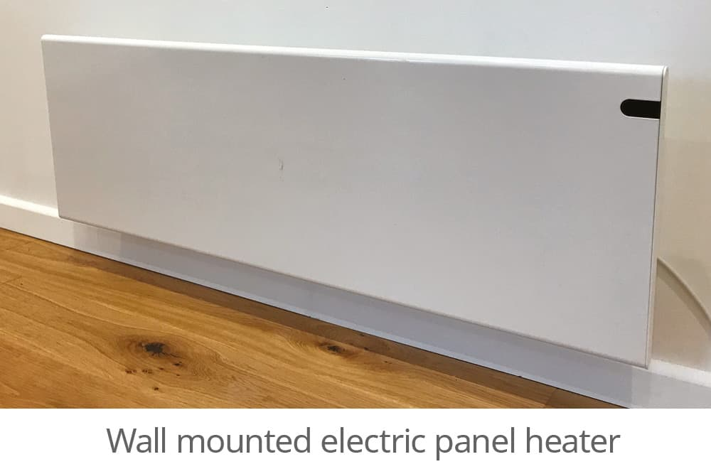 Wall mounted electric panel heater