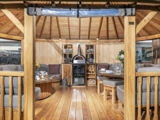 Hampton Gazebo with Delivita Wood-Fired Oven