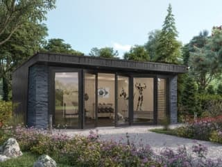 Clarence with Black Slate Garden Gym
