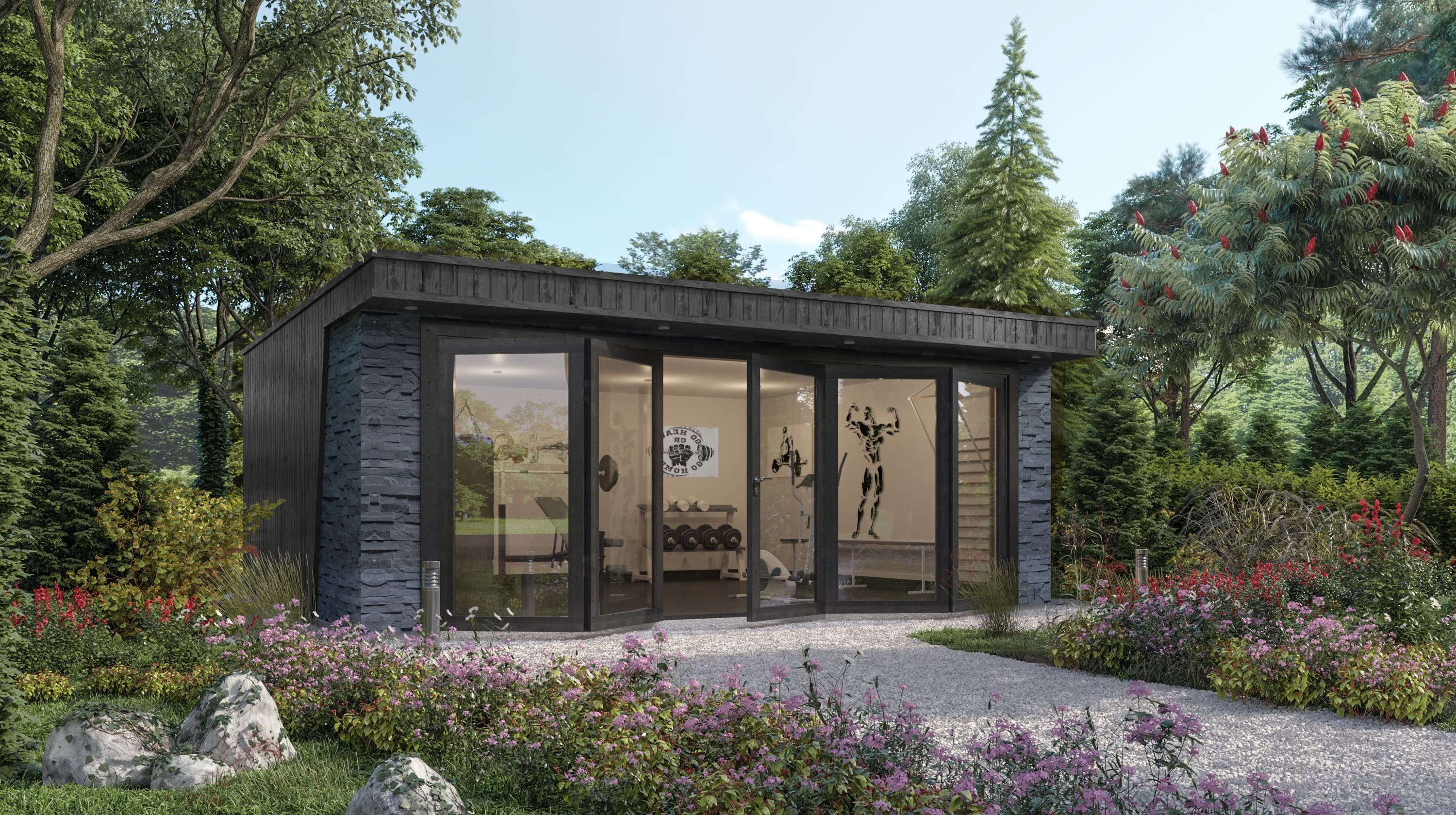 Crown Clarence: Garden Room Gym