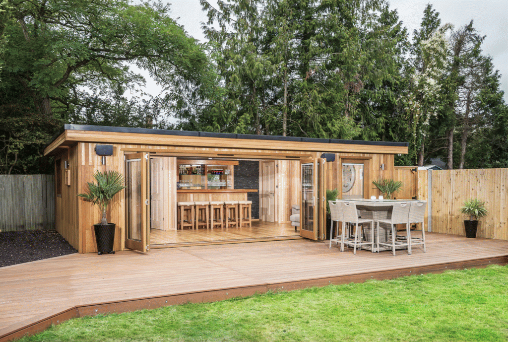 Large Sandringham with Bar, W/C and Decking