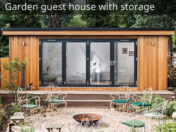 Garden Guest House with Storage