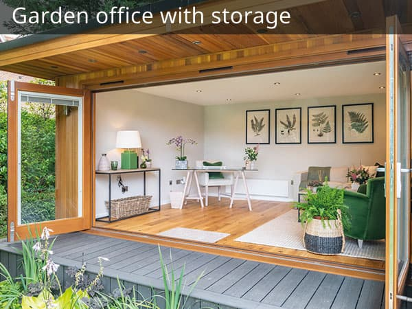 Garden office with Storage